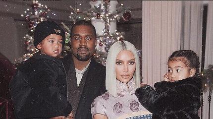 Kim Kardashian ir Kanye Westo šeima