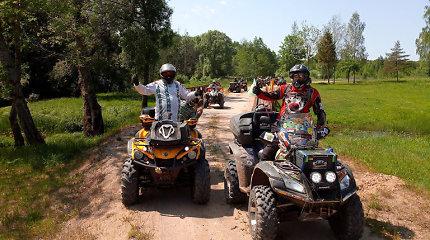 Į turą per Lietuvą susiruošę keturratininkai aplankys 39 etnografinius kaimus