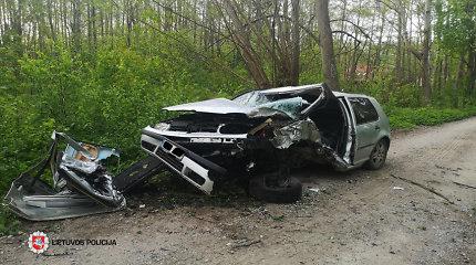 Kelių policininkų akimis, skaudžiausia savaitgalį buvo motociklininko žūtis Kauno rajone
