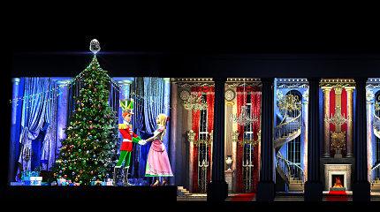 Vilniuje – nauja Kalėdinė 3D pasaka ant Katedros fasado