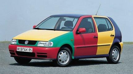 """Spalvotieji """"Volkswagen"""" arlekinai – tokie """"Golf"""" ir """"Polo"""" išriedėjo iš gamyklų"""