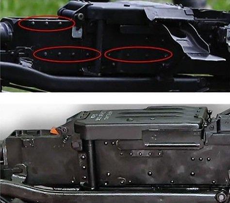 """UntitledViršuje pavaizduotas kulkosvaidis NVS nuo modifikacijos """"Kord"""" skiriasi kniedėmis"""