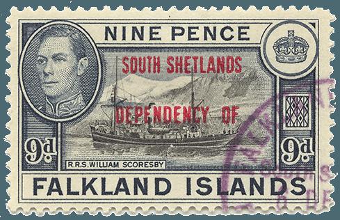 """""""Balto"""" nuotr./Pietų Šetlando pašto ženklas"""