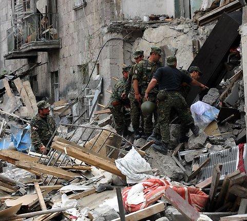 """AFP/""""Scanpix"""" nuotr./Rusijos ir Sakartvelo karo padariniai"""