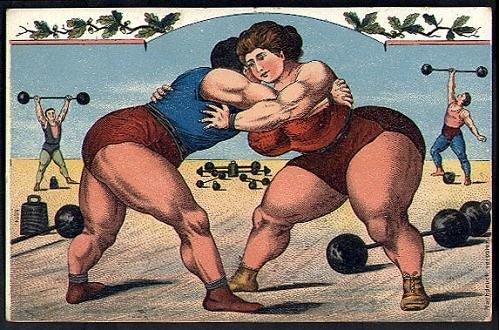 Tinklalapio xn----7sbbblh9b0av4l.xn--j1amh iliustracija/Moterų imtynės cirke.