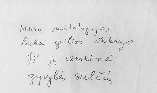 Naujasis Židinys-Aidai nuotr./Marijos Gimbutienęs rašteliai (LLMA, f. 459, ap. 3, b. 252)