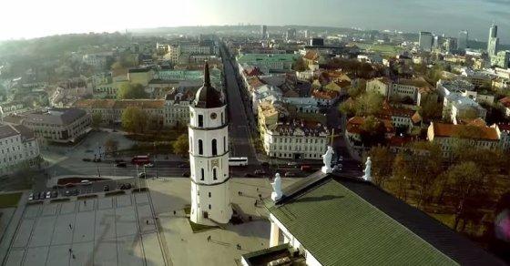 Kadras iš filmuotos medžiagos/Vilniaus senamiestis
