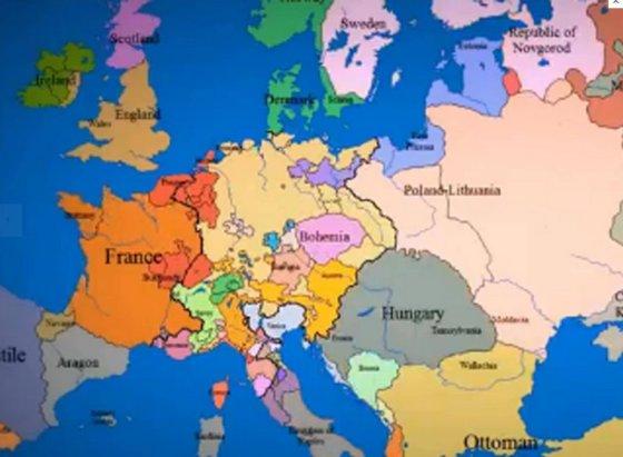 """""""Youtube"""" nuotr./Vaizdo įraše – tūkstantmetė Europos istorija per tris minutes"""