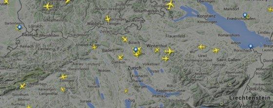 Flightradar24.com/Pasaulio grietinėlė skrenda į Davosą