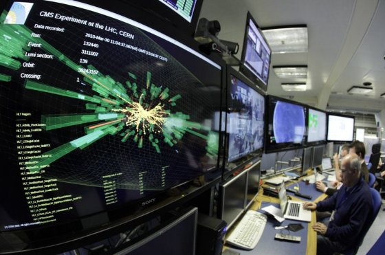 """""""Reuters""""/""""Scanpix"""" nuotr./Didžiojo dalelių greitintuvo rodmenys"""