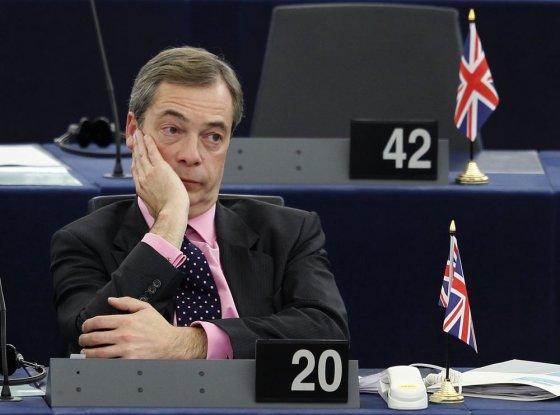 """""""Reuters""""/""""Scanpix"""" nuotr./Jungtinės Karalystės nepriklausomybės partijos lyderis Nigelas Farage'as"""