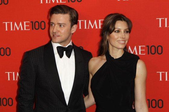 """""""Reuters""""/""""Scanpix"""" nuotr./Justinas Timberlake'as ir Jessica Biel"""