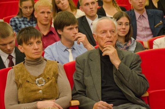 KTU nuotr./Aloyzas Sakalas su žmona Daiva Sakale
