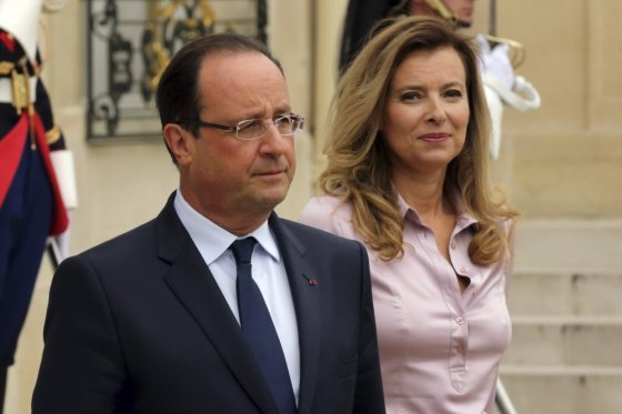 """Reuters""/""Scanpix"" nuotr./Francois Hollande'as ir Valerie Trierweiler"