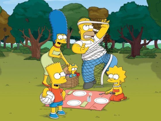 Houmeris Simpsonas su šeima