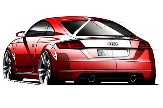 """""""Audi"""" nuotr./Naujojo """"Audi TT"""" brėžiniai"""