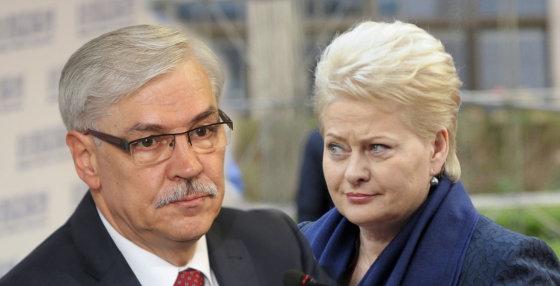 "15min.lt/""Scanpix"" nuotr./Zigmantas Balčytis ir Dalia Grybauskaitė"