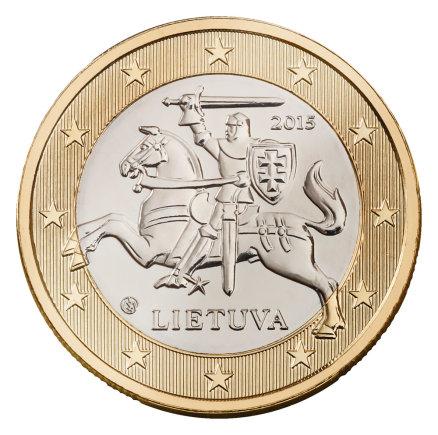 Lietuvos banko nuotr./1 euro monetos etalonas