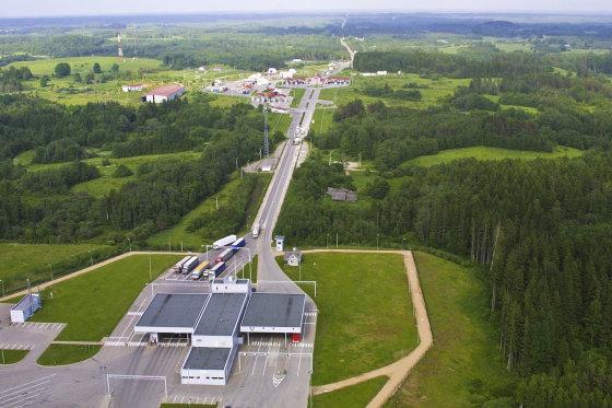 """""""Wikimedia Commons"""" nuotr./Luhamos pasienio punktas Estijoje"""