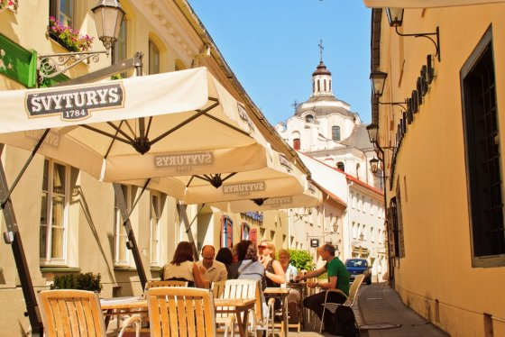 Vilniaus m. sav. nuotr./Turistai Vilniuje