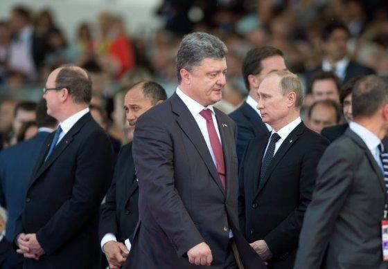 """""""Scanpix"""" nuotr./Petro Porošenka ir Vladimiras Putinas"""