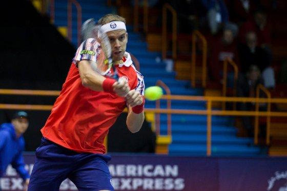 PBZ Zagreb Indoors nuotr./Gillesas Mulleris