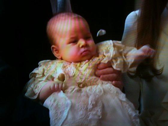 Princas George'as per krikštynas