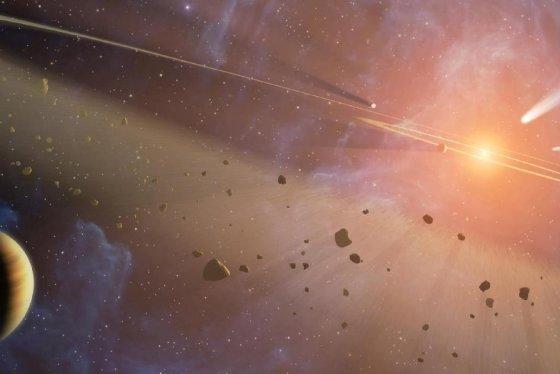 NASA/JPL-Caltech iliustr./Asteroidai kosmose