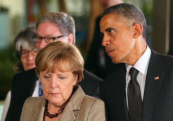 """""""Reuters""""/""""Scanpix"""" nuotr./A.Merkel ir B.Obama."""