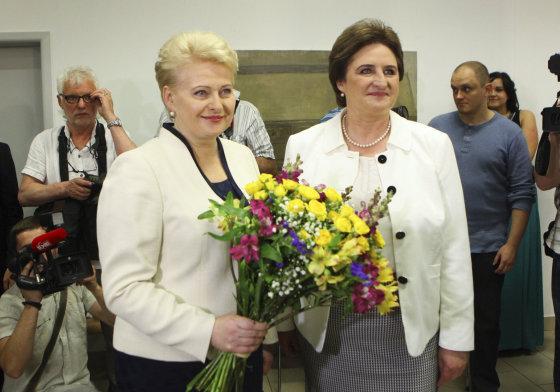 Irmanto Gelūno/15min.lt nuotr./Dalia Grybauskaitė ir Loreta Graužinienė