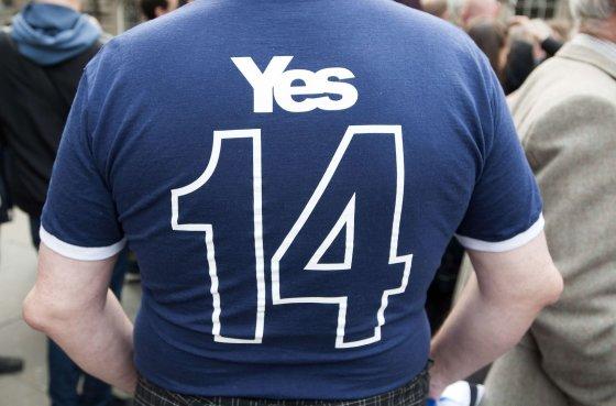 """AFP/""""Scanpix"""" nuotr./Škotijos nepriklausomybės rėmėjas"""