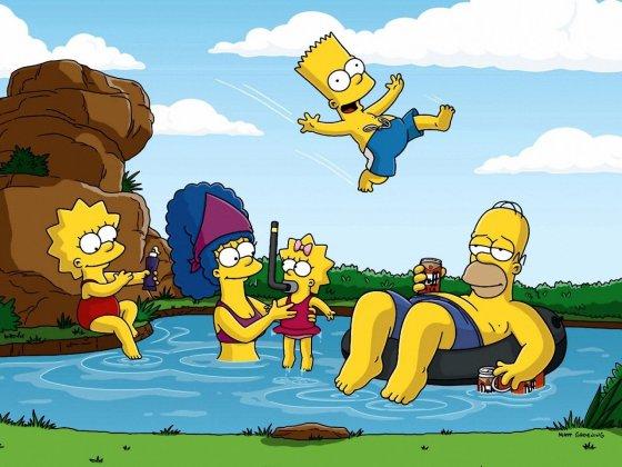 Simpsonų šeima poilsiauja