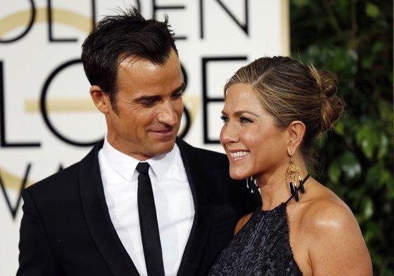 """Reuters""/""Scanpix"" nuotr./Justinas Theroux ir Jennifer Aniston"