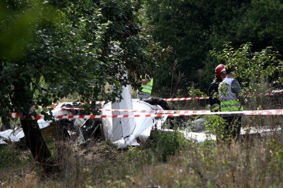 "AFP/""Scanpix"" nuotr./Lenkijoje sudužo lėktuvas."