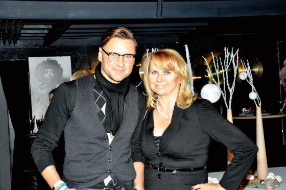 Asmeninio albumo nuotr./Žilvinas Grigaitis su žmona Elle