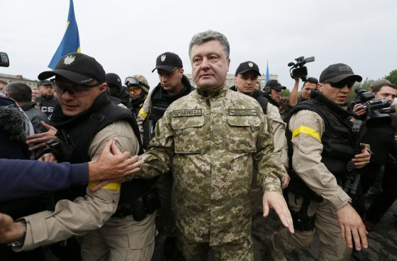 """Reuters""/""Scanpix"" nuotr./Ukrainos prezidentas Petro Porošenka Slovjanske"