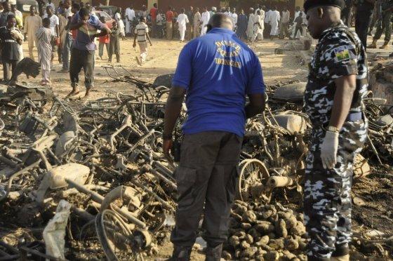 """""""Scanpix""""/AP nuotr./Sprogimas Nigerijoje"""