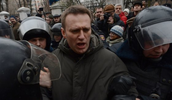 """AFP/""""Scanpix"""" nuotr./Rusijos opozicijos lyderis Aleksejus Navalnas"""