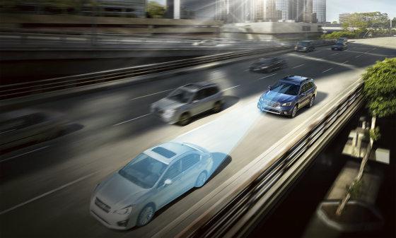 """SUBARU modelių saugumą didins ir """"EyeSight"""" sistema"""