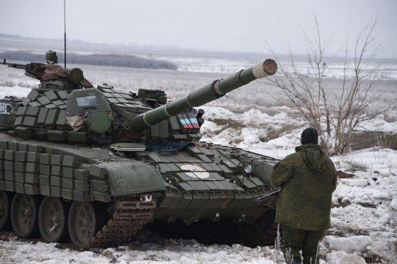 """AFP/""""Scanpix"""" nuotr./Tankas Rytų Ukrainoje"""