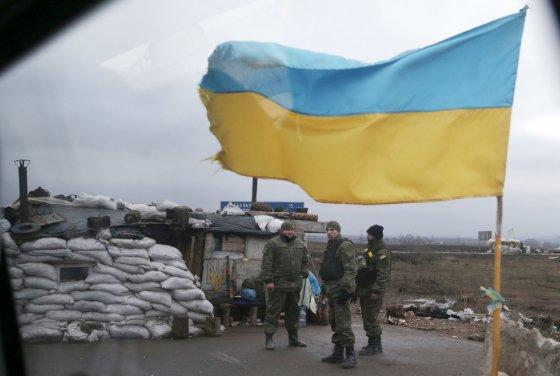 """""""Scanpix""""/AP nuotr./Ukrainos kariai prie Debalcevės miesto"""