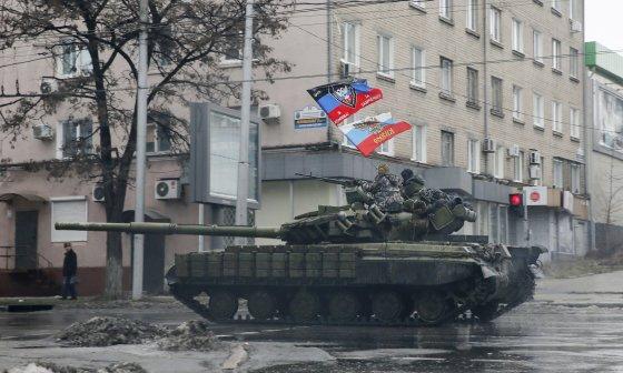 """Reuters""/""Scanpix"" nuotr./Rusijos teroristai Donecke"