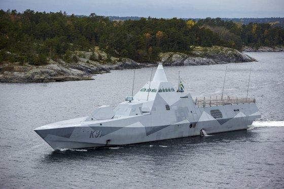 """""""Reuters""""/""""Scanpix"""" nuotr./Švedijos karininė korvetė """"HMS Visby"""""""
