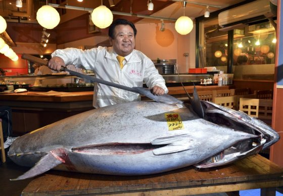"""Scanpix"" nuotr./K.Kimura už rekordinę sumą pirko 222 kg tuną"