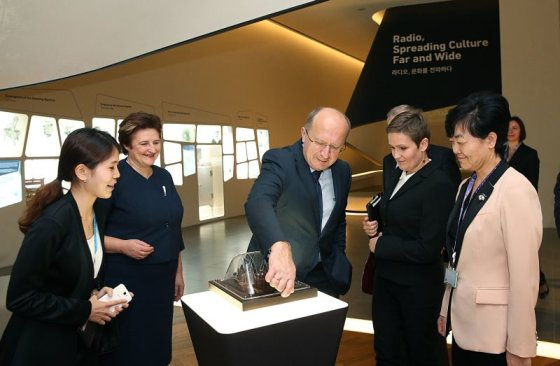 LRS nuotr./Loreta Graužinienė ir Andrius Kubilius su darbo vizitu lankėsi Pietų Korėjoje