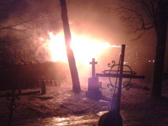 Sausio 13 d. gaisras Kelmėje (Domanto nuotraukos)
