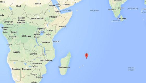 """Google Maps iliustr./""""Team Vestas Wind"""" nelaimės vieta"""