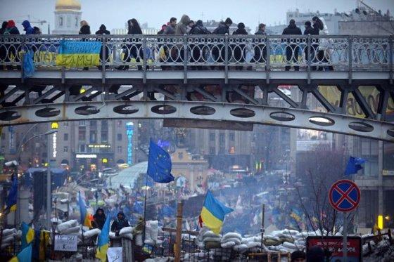 Gruodžio 14-osios rytas Kijevo centre