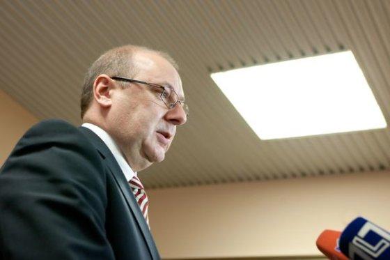 """Andriaus Ufarto/BFL nuotr./Lietuvos vežėjų asociacijos """"Linava"""" prezidentas Algimantas Kondrusevičius"""
