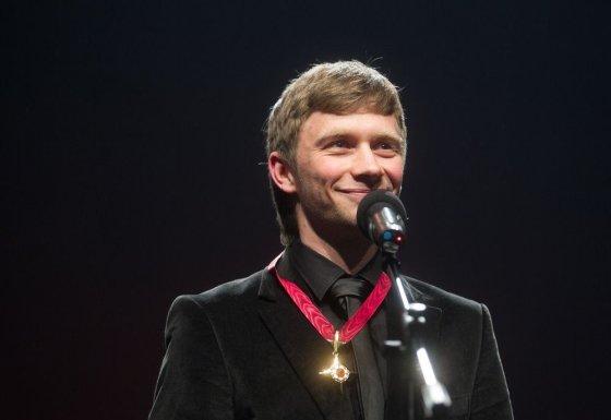 Irmanto Gelūno/15min.lt nuotr./Už geriausią pagrindinį vaidmenį apdovanotas Valentinas Novopolskis